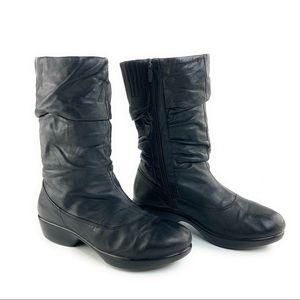 Dansko Devin Nappa Slouchy Boot in Black